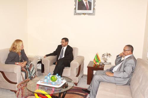 Le ministre de la Santé reçoit l'ambassadrice allemande