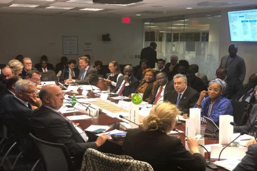 Le ministre de l'économie se réunit avec une délégation conjointe des partenaires au développement.