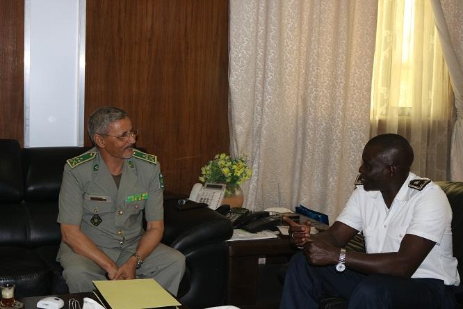 Mauritanie : Le chef de l'Armée reçoit le chef de la Marine sénégalaise