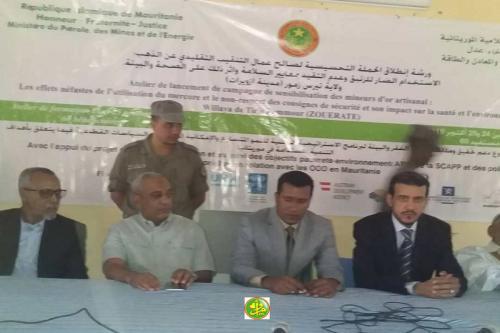 Zouerate : Atelier de sensibilisation au profit des orpailleurs sur les normes de sécurité