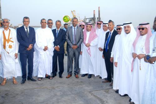 Une délégation du conseil saoudien de la Choura visite le Port Autonome de Nouakchott