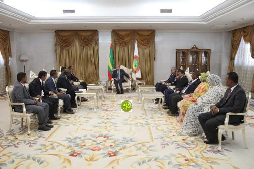 Le Président de la République reçoit le bureau exécutif du syndicat des journalistes mauritaniens
