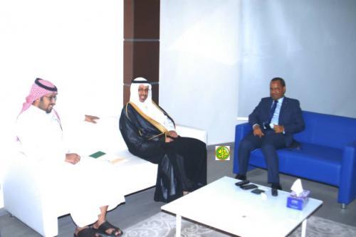 Le ministre de l'Equipement et des Transports reçoit l'Ambassadeur d'Arabie Saoudite