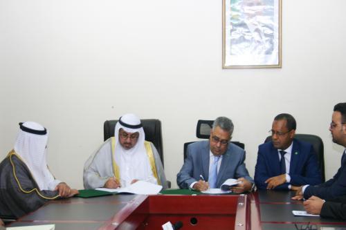 Signature d'une convention de financement de la route Néma-Nbeiguit Lahwach