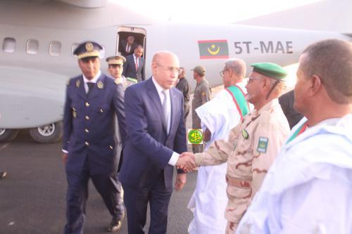 Arrivée du Président de la République à Akjoujt