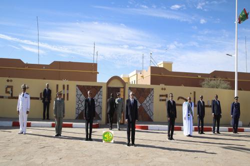 Le Président de la République préside la cérémonie de levée de couleurs à Akjoujt