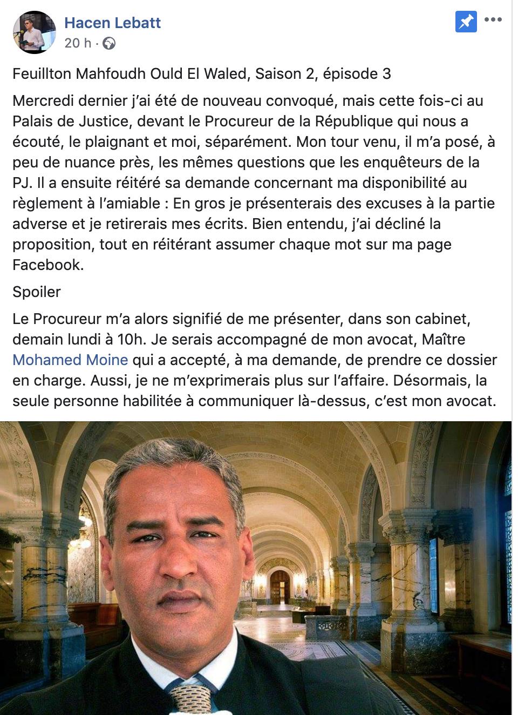 Hacen Lebatt surpris d'être accusé pendant que l'ex terroriste est innocenté