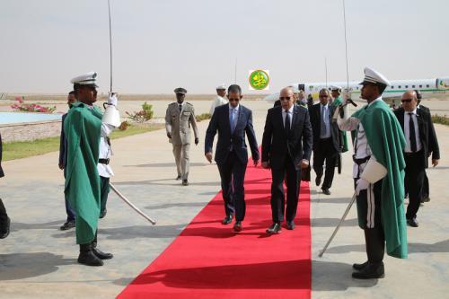 Le Président de la République regagne Nouakchott en provenance de Sélibabi