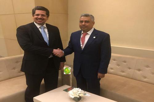 Le ministre de l'économie et de l'industrie reçoit le président de l'établissement islamique pour le développement du secteur privé