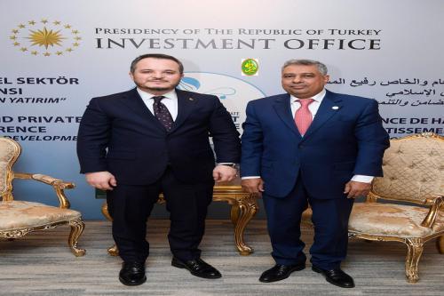 Le ministre de l'économie rencontre le président du bureau turc pour la promotion de l'investissement
