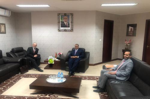 Le ministre des Affaires étrangères reçoit l'ambassadeur britannique