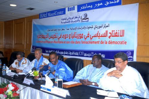 Organisation d'une session sur l'ouverture politique en Mauritanie
