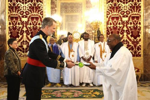 Notre ambassadeur en Espagne remet ses lettres de créances au Roi d'Espagne