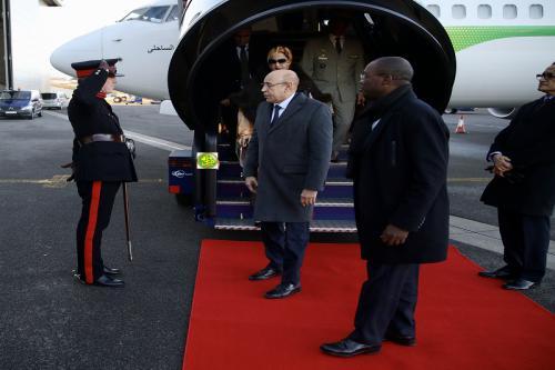 Arrivée du Président de la République à Londres pour participer au sommet afro-britannique de l'investissement