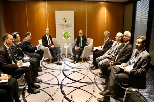 Le Président de la République reçoit en audience le président du groupe de la Banque Mondiale