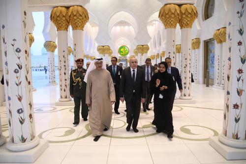 Le Président de la République visite la Grande Mosquée Cheikh Zayed à Abu Dhabi