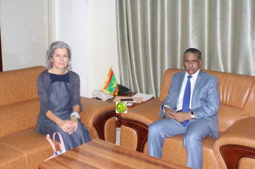 Le Commissaire à la Sécurité alimentaire reçoit la Représentante de l'UNHCR en Mauritanie