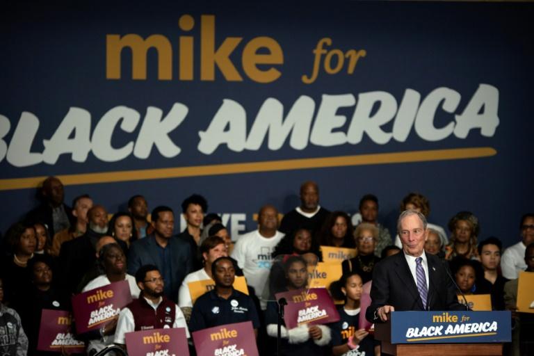 Présidentielle américaine: Bloomberg parie sur le vote des Noirs