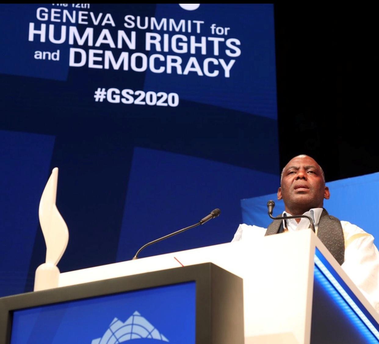 Sommet de Genève pour la démocratie et les droits de l'Homme: Allocution du lauréat de la cession 2020, Biram Dah Abeid, « Prix du Courage »