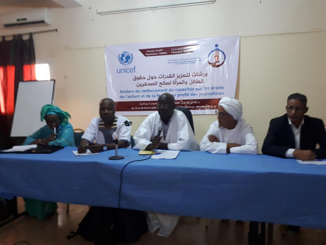 Démarrage d'un atelier sur les droits de l'enfant et de la femme à l'intention des journalistes