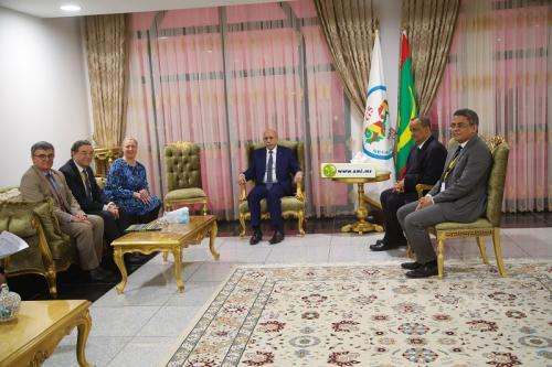 Le Président de la République reçoit la commissaire chargée du partenariat international de l'UE et l'envoyé spécial européen au Sahel