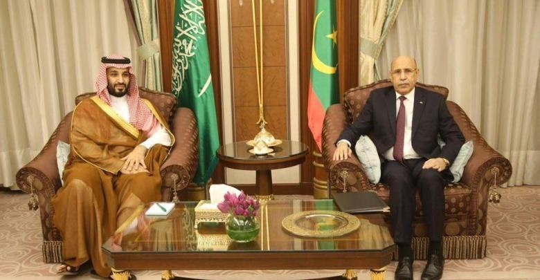 Entretiens entre le président Ghazouani et le prince héritier saoudien