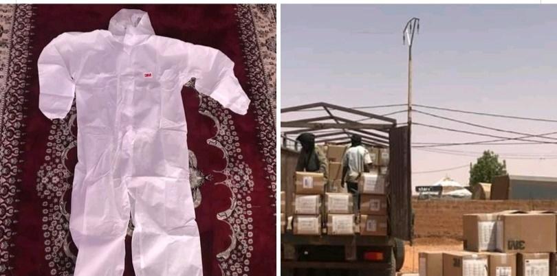 Interception d'un camion chargé de tenues de protection