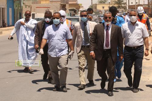 Le ministre de l'Equipement et des transports visite des tronçons routiers à Nouakchott