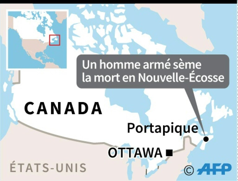 Canada: un homme armé fait au moins 16 morts, pire tuerie du pays