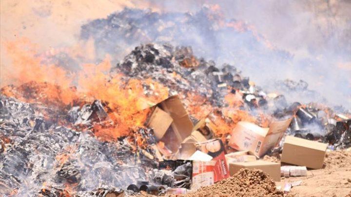 Akjoujt: Incinération de produits périmés