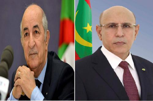 Le Président de la République s'entretient au téléphone avec le Président algérien