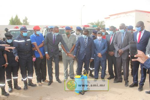 Le SG du ministère de l'Intérieur s'informe des moyens de pulvérisation et de désinfection des marchés et complexes commerciaux à Nouakchott