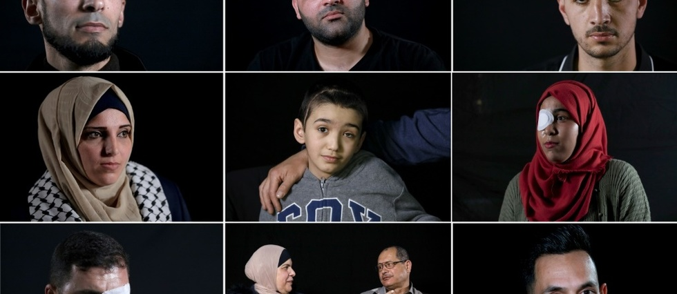 """Les yeux grands blessés: le """"monde d'après"""" de Palestiniens éborgnés en manifs"""