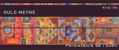 Exposition : Mohamed Ould Meyne à la galerie Sinaa vendredi 7 octobre 17H