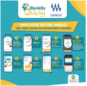 Exclusivité : la banque mobile Bankily de la Banque Populaire de Mauritanie signe avec la Somelec