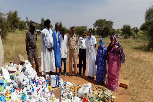 Incinération à Kiffa de 10 tonnes de denrées alimentaires et produits pharmaceutiques périmés