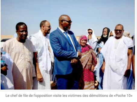 """Le chef de l'opposition visite les victimes des démolitions de """"Poche10"""""""