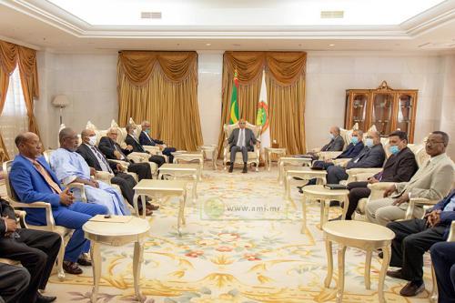 Le Président de la République reçoit le bâtonnier et les membres de l'ordre national des avocats
