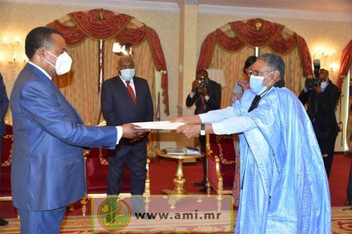 Présentation des lettres de créance du nouvel ambassadeur de Mauritanie auprès de la République du Congo