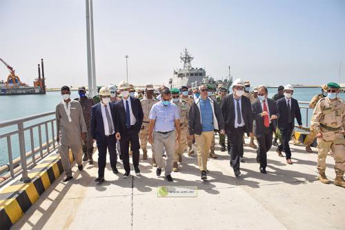 Trarza : Une délégation ministérielle s'enquiert des travaux de construction du port de N'Diago