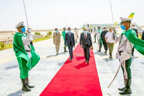 Retour du Président de la République à Nouakchott en provenance de Zouerate