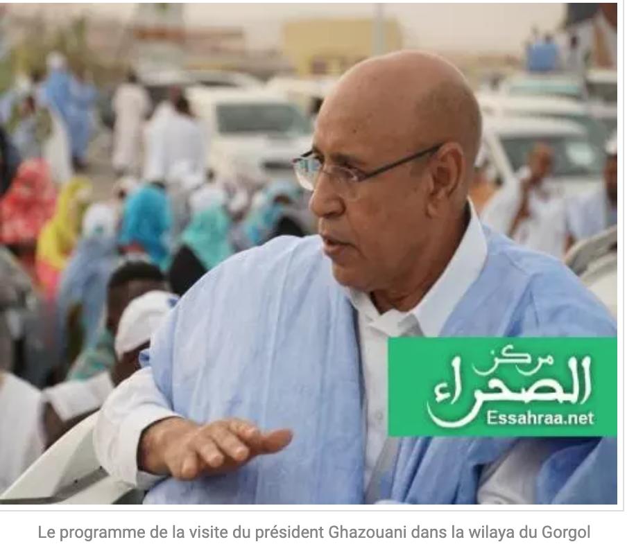 Le programme de la visite du président Ghazouani dans la wilaya du Gorgol