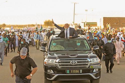 Le président de la République arrive à Kaédi