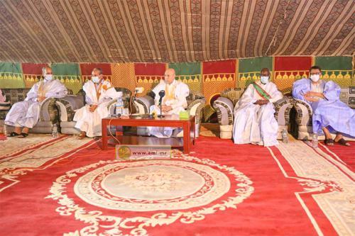 Le Président de la République tient une réunion de cadres à Kaédi avec les cadres et les notables de la wilaya du Gorgol