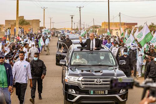 Arrivée du Président de la République à Sélibaby