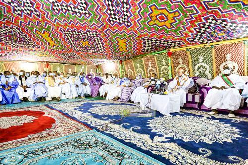 Le président de la République se réunit avec des cadres du Guidimakha