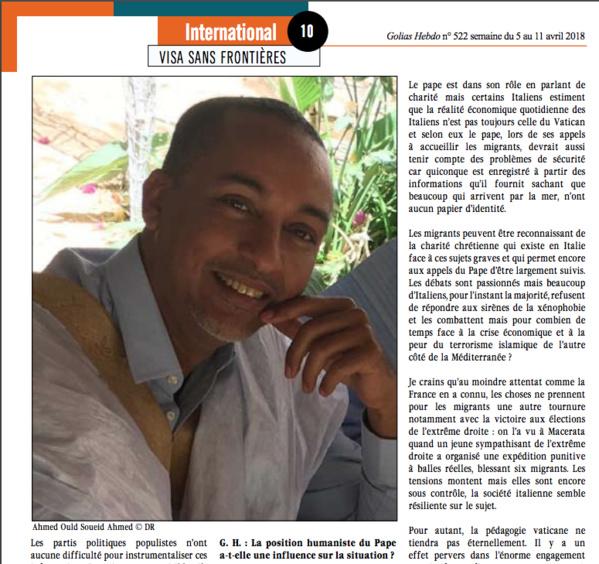 Sérieux déséquilibre diplomatique entre la Mauritanie et l'Italie jusqu'au Sénégal…