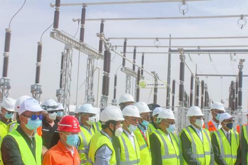 Le ministre du Pétrole, s'acquiert de l'état d'avancement des travaux des projets de la ligne électrique et de la station éolienne