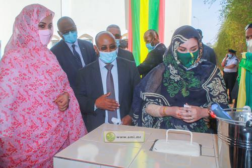 La Première Dame pose la 1è pierre de la première école nationale pour l'action sociale
