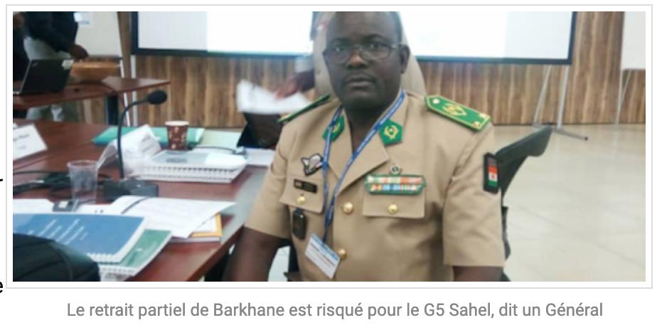 Le retrait partiel de Barkhane est risqué pour le G5 Sahel, dit un Général